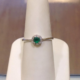 Emerald diamond halo, Emerald diamond halo