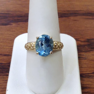 Blue topaz yellow gold setting, Bossier City and Shreveport, LA