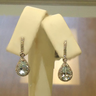 Aqua marine tear drop earrings, Bossier City and Shreveport, LA