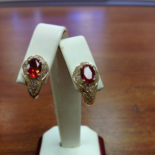 Garnet earrings, Bossier City and Shreveport, LA